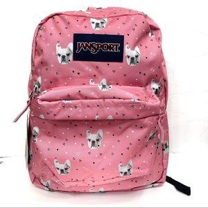 NWT. JanSport backpack fierce frenchie dog